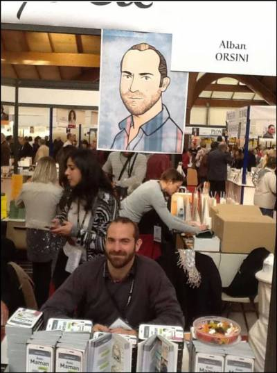 (c) Alban Orsini  (photo Gilles Paris, dessin Vivi Lablonde)